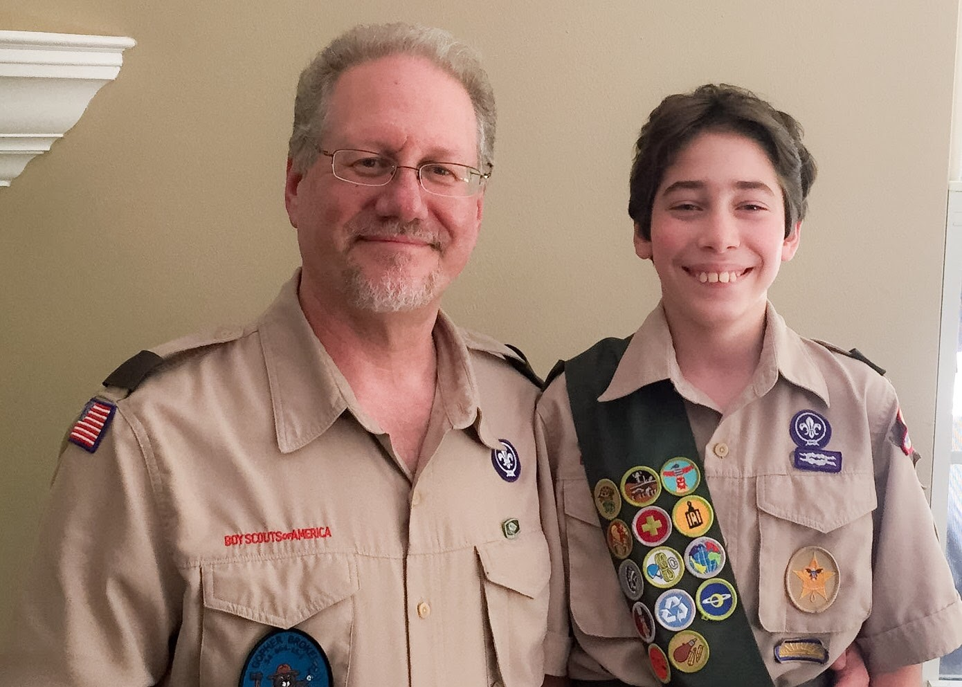 Father and Son in BSA uniforms