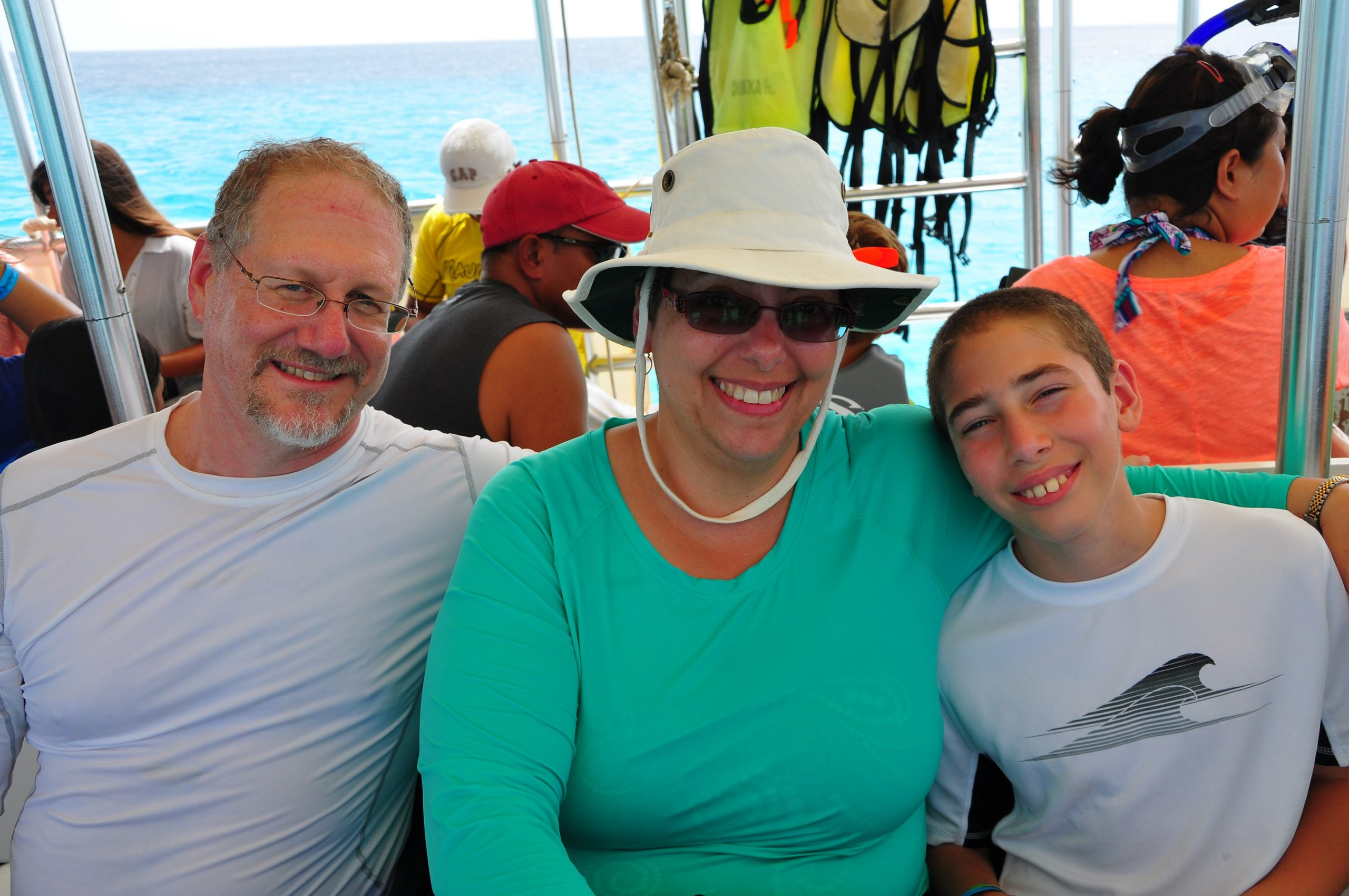 Avner, Barbara and me on a shore excursion