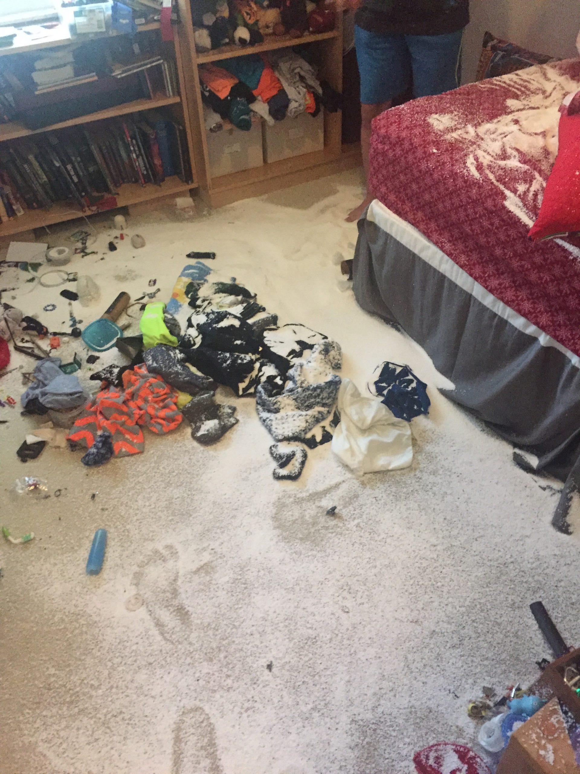Avner's trashed bedroom